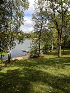 Photo for 4 bedroom 2.5 bath beautiful lakehome,sandy beach on large lake in northern M