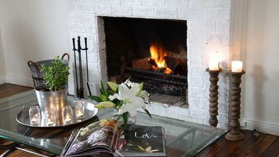 Open fire creates a beautiful environment for that perfect winter escape