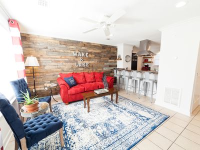 Photo for STYLISH•WATERFRONT• ESCAPE•5 guests~5 miles to downtown, 15 steps to water 💦