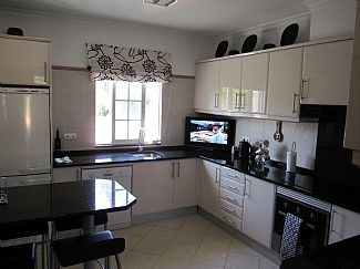 Newly-fitted kitchen