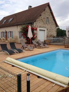 Photo for country house rental with pool, in Saint-Bonnet old vine 71430