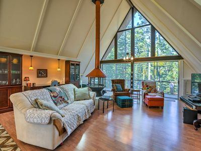 Photo for Gorgeous A-Frame Cabin w/Deck - 1 Mi to Lake Tahoe