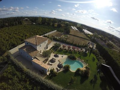 Photo for provencal country house with heated freeform pool