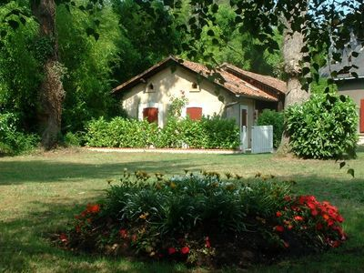 Photo for Charming house, 10min beach, heated pool, tennis, Landes, New Aquitaine