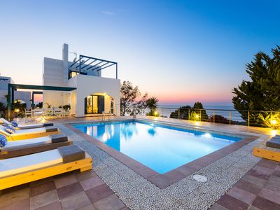 Photo for Stylish White 3 bedroom Villa Sun with astonishing sea view!