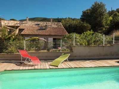 Photo for Cozy semi-detached holiday home with private pool in wine area of \u200b\u200bSouthern France