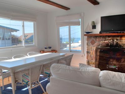 Photo for White Beach House- steps to ocean & views, hot tub $475/night except holidays
