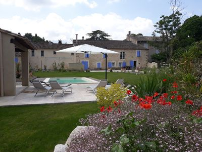 Photo for charming farmhouse stone landscape garden with private pool st remy de provence
