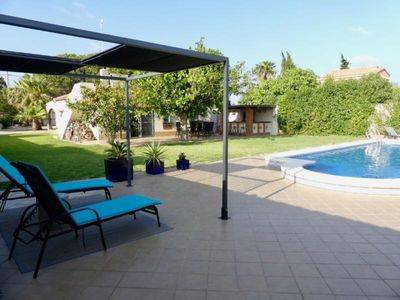 Photo for Villa with big pool in a quiet residential area with big garden to enjoy the sun