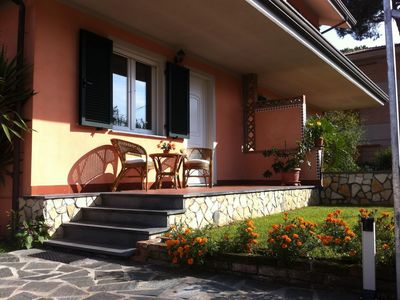 Photo for Semi-detached house, 3 bedrooms, two bathrooms, garden, patio, free WiFI, air conditioning
