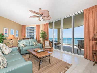 Photo for Gulf Front Condo! Large Terrace, Tennis Courts, Pool, Fitness Center!