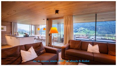 Photo for Beautiful family chalet 5à12pers, ski & ski out, private sauna, fireplace