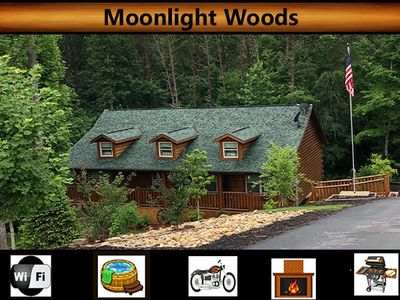 Photo for Moonlight Woods  - Hot Tub / Wifi / Secluded / Flat Parking