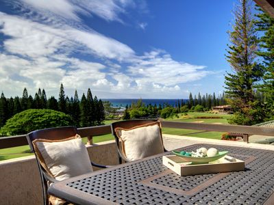Photo for Kapalua Golf Villa Luxuriously Furnished with Breathtaking Ocean Views!
