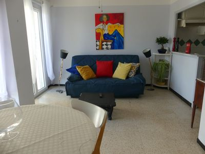 Photo for Bright 2-room apartment in the center of Juan les Pins