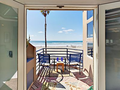 Photo for Epic Oceanfront Views - 3BR Boardwalk Beauty w/ Patio, Balcony & Fire Pit