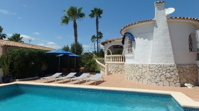 Photo for Calpe, beautiful detached villa, private pool, wifi, air con, parking, 4 bedrooms