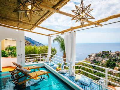 Photo for Eden House Positano, Amazing Seeview Apartment Car Parking shared pool