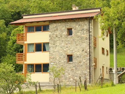 Photo for Modern apartment with views of mountains, in the heart of the Soca Valley