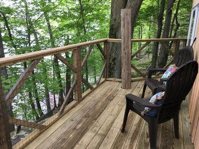 Photo for Perched over private beach on Cayuga Lake