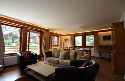 Photo for Apartment located in a chalet 5 min walking distance from the center and cable car of le Chamois.It