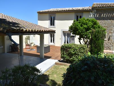 Photo for Superb gîte, Heated Pool near Carcassonne next to Canal du Midi -