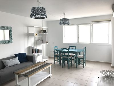 Photo for Apartment 50 meters from the sea. Double services and two bedrooms.