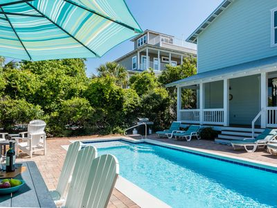 Photo for Private Pool! Complimentary beach setup! Short Walk to the Beach! Fire Pit!