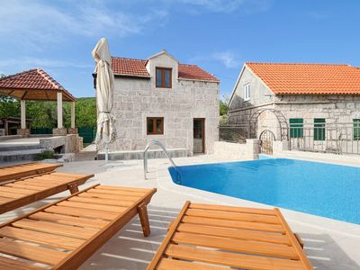 Photo for Holiday house Mons with heated pool in Župa, 30 min. Drive from Makarska