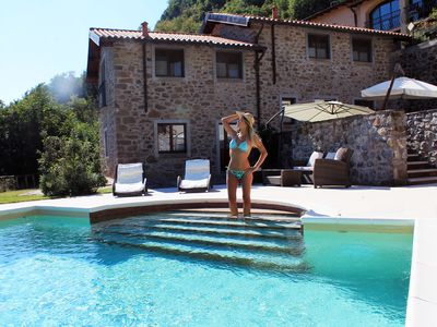 Photo for LUXURY VILLA , PRIVATE POOL,BBQ,WOODOVEN, Helicopter Tours and Adventure Parks