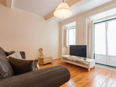 Photo for Typical Bairro Alto apartment in Bairro Alto with WiFi & air conditioning.