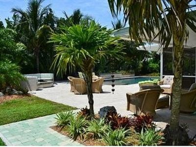 Photo for Single family private Oasis, fire pit, lovely out door area.