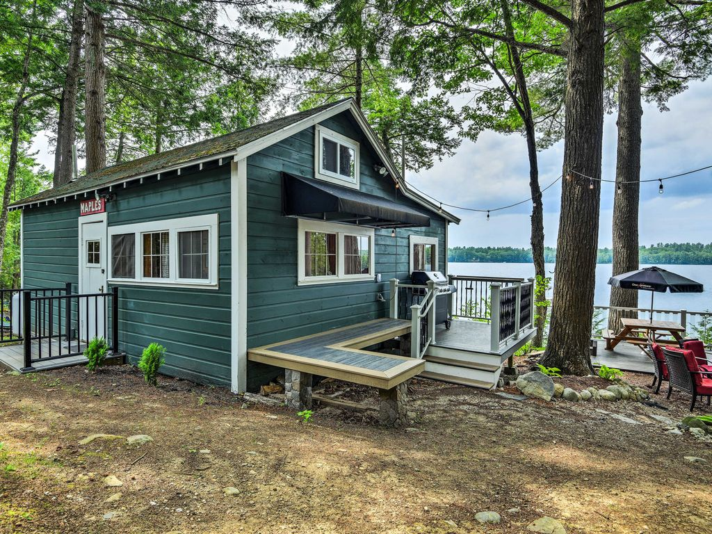 Cozy winthrop cottage on maranacook lake w homeaway for Winthrop cabin rentals