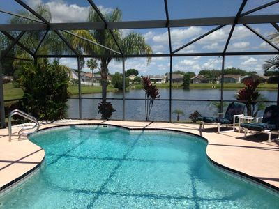 Photo for Lake View*Large Private Pool*Free Wifi*Cable TV*AC*Low Rates*Beautiful Home