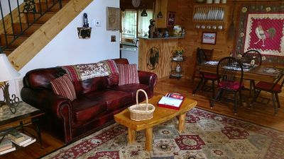 Photo for Relaxing 'Riverdance' Log Cabin  is 2.7 miles from Tryon Equestrian Resort