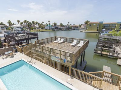 Photo for Boat Slip/Swimming Pool//Channel front Condo/Water Views