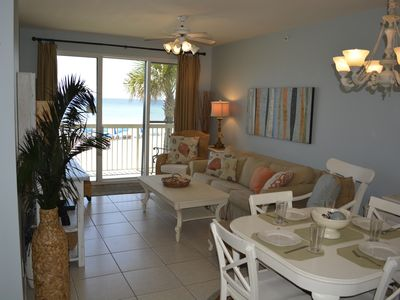 Photo for Aug. Specials 1st Floor  2 KING BR's/2BA +Bunk Room *Beach Front + Beach Service