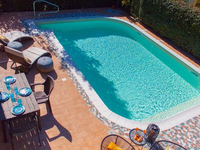 Photo for VILLA WITH PRIVATE POOL WITH WHIRLPOOL, EVERY COMFORT, NEAR THE SEA