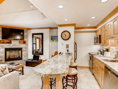 Photo for Mountain view condo in ski-in/ski-out complex – pool & hot tub on-site