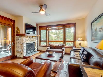 Photo for Mountain villa w/ shared pool & hot tub + gaming room & fitness center!
