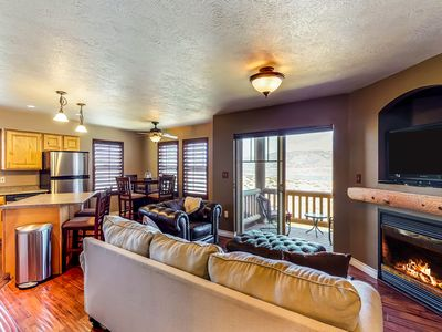 Photo for NEW LISTING! Well-situated condo w/ lake view & shared pool - near ski resorts