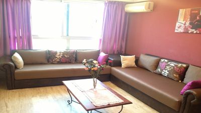 Photo for Beautiful Apt 3 Rooms at the Centre. Fully AirCon, Bright,Garden View, WiFi,TRAM