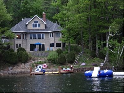 Photo for Lake Winnipesaukee Waterfront Luxury Home - Jet Ski Lift Available