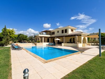 Photo for VOUNI 5 bedroom premium property with stunning sea views and 12 x 6 heated pool.