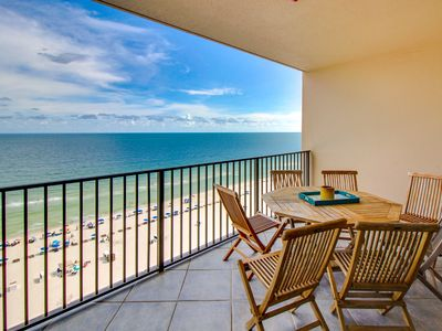 Photo for NEW LISTING! Direct beachfront condo w/shared pool/hot tub, balcony & ocean view
