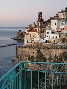 View over Atrani and Amalfi, from the balcony