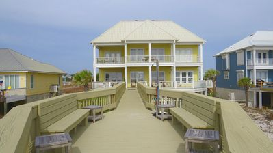 Luxury Beachfront Home with Extra Large Deck;  Sleeps up to 20!