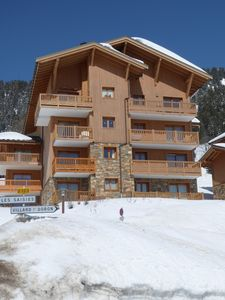 Photo for Appt with private pool at the foot of the slopes with garage - ski school at 300m