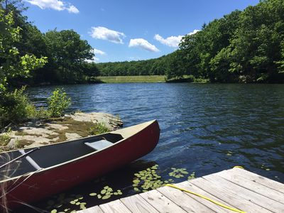 Photo for FAMILY FRIENDLY PRIVATE LAKE only 5 Min from Lake Wallenpaupack! Beautiful views