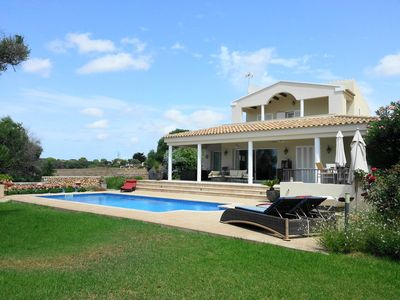 Photo for Villa del Mar in the heart of Menorca, only 9km to the nearest beaches!